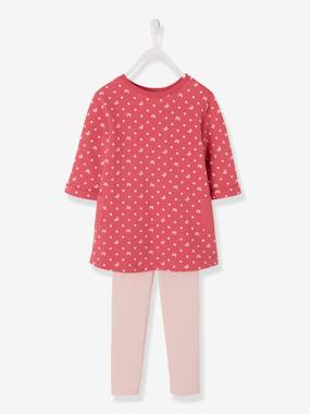 Vertbaudet - Collection maternelle : t shirt réversible, vêtements enfant-Fille-Ensemble fille robe + legging