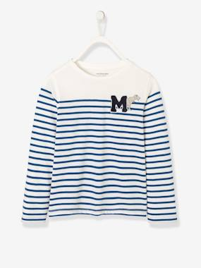 Boys-Tops-Striped Long-Sleeved T-Shirt for Boys