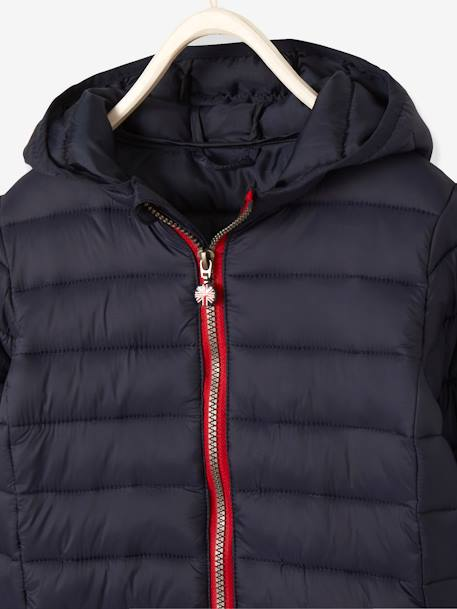 Lightweight Padded Jacket with Hood for Boys BLUE DARK SOLID+BLUE MEDIUM SOLID+GREEN BRIGHT SOLID WITH DESIG+GREY MEDIUM SOLID+RED DARK SOLID+YELLOW DARK SOLID - vertbaudet enfant