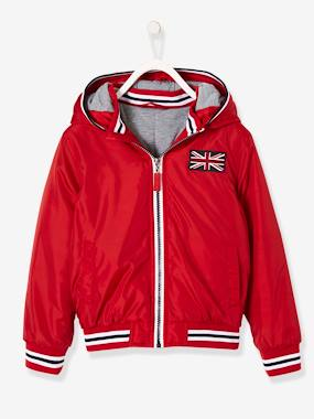 Boys-Coats & Jackets-Hooded Jacket with Lining for Boys