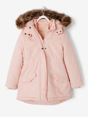 Megashop-Girls-4-in-1 Parka with Fleece Lining for Girls
