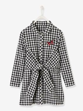Vertbaudet Sale-Gingham Dress for Girls