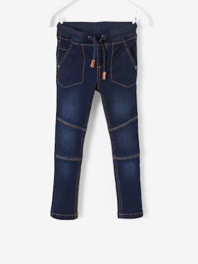 Vertbaudet Sale-Boys-Trousers-MEDIUM Hip, Slim Leg Jeans for Boys
