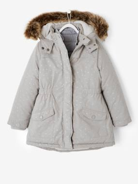 Vertbaudet Sale-4-in-1 Parka with Fleece Lining for Girls