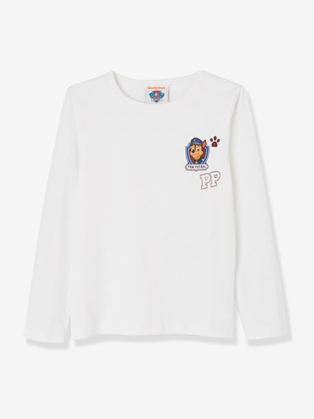 Pack of 2 Long-Sleeved PAW Patrol® Tops WHITE MEDIUM SOLID WITH DESIGN - vertbaudet enfant