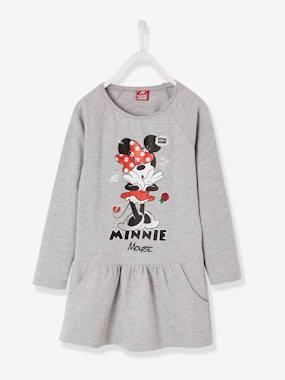 Vertbaudet Sale-Girls-Printed Fleece Minnie® Dress
