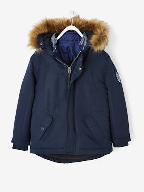 Vertbaudet Sale-4-in-1 Parka with Fleece Lining for Boys
