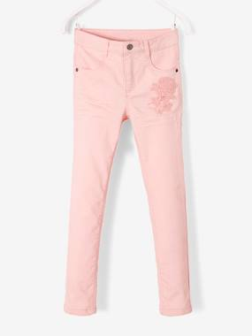 fille-london-Slim Jeans with Macramé Flower for Girls