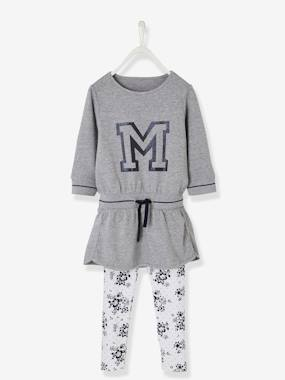 Fille-Collection sport-Ensemble sport fille robe molleton + legging