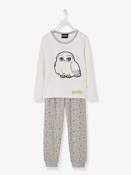 Harry Potter® Pyjamas for Girls WHITE LIGHT SOLID WITH DESIGN - vertbaudet enfant