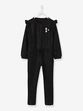 Vertbaudet Sale-Girls-Iridescent Jumpsuit for Girls with Sequins