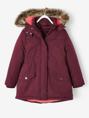 Vertbaudet Collection-Girls-4-in-1 Parka with Fleece Lining for Girls
