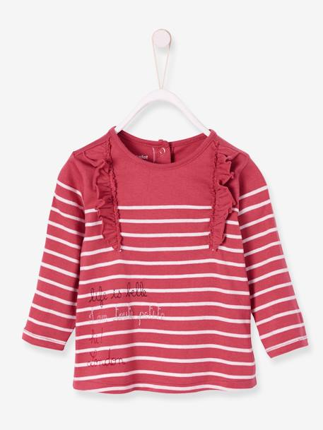 cheapest price uk availability huge sale Striped Top for Baby Girls, I am toute petite - pink dark striped, Baby