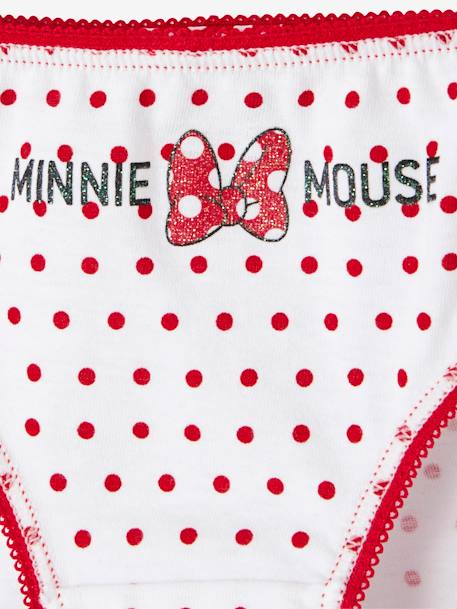 Pack of 7 Minnie® Briefs WHITE DARK SOLID WITH DESIGN - vertbaudet enfant