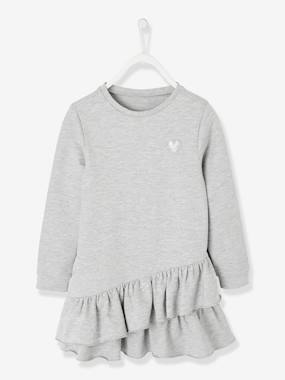 Vertbaudet Sale-Girls-Dresses-Iridescent Fleece Dress for Girls