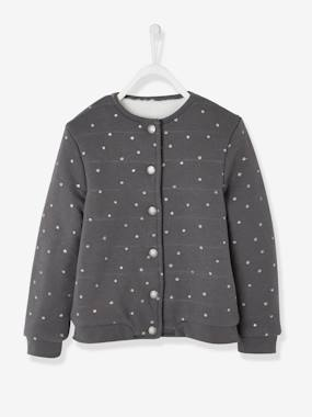 Girls-Lined Fleece Cardigan for Girls
