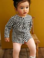 Chequered Blouse with Frills for Baby Girls  - vertbaudet enfant