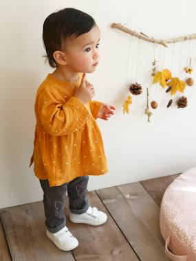 Baby-Blouses & Shirts-Embroidered Blouse for Baby Girls