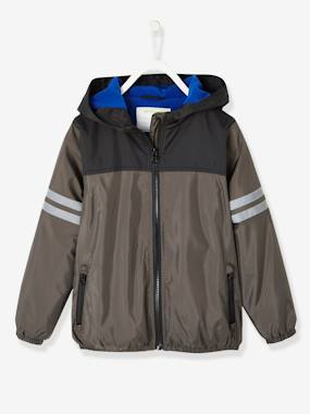Boys-Coats & Jackets-Windcheater with Fleece Lining for Boys