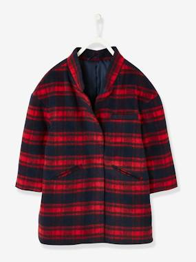 T-shirts-Woollen Coat for Girls