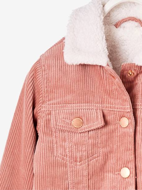 corduroy jacket with lining for girls pink light solid girls