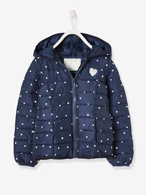 Schoolwear-Light Padded Jacket with Hood, for Girls