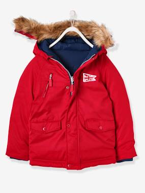Boys-Coats & Jackets-Reversible Padded Jacket for Boys