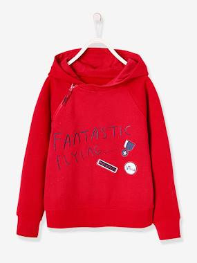 Vertbaudet Sale-Boys-Cardigans, Jumpers & Sweatshirts-Hooded Sweatshirt in Brushed Fleece for Boys