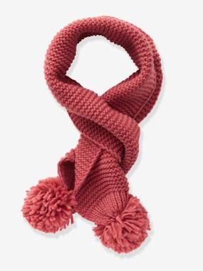 Girls-Accessories-Winter Hats, Scarves, Gloves & Mittens-Scarf with Pompoms for Girls
