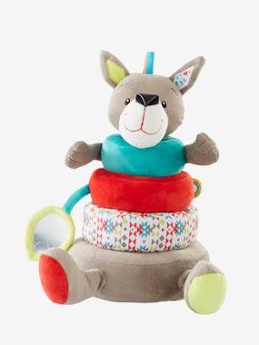 Toys-Cuddly Toys & Rattles-Wolf Stacking Tower