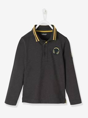 garcon-urbanjungle-Long-Sleeved Polo Shirt for Boys
