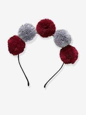 Girls-Accessories-Alice Band with Pompoms for Girls