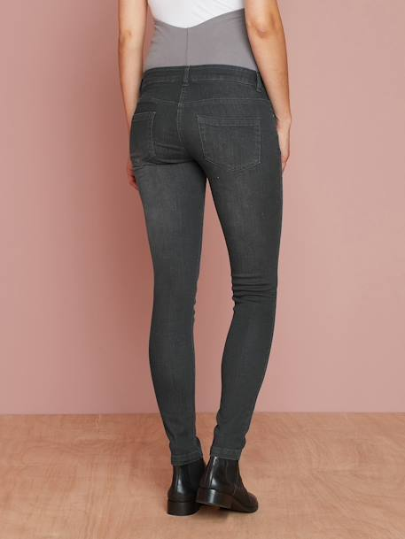 Jean slim stretch de grossesse entrejambe 85 DENIM BLACK+DENIM BRUT+DENIM GRIS CLAIR+Denim stone+TRIPLE STONE - vertbaudet enfant