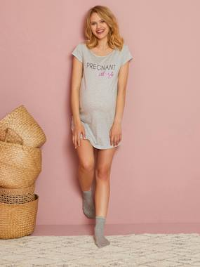 Maternity-Nightwear & Loungewear-Long top Maternity Dressing Gown