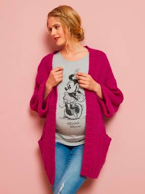 Vertbaudet Sale-Maternity-Knitwear-Thick Knit Cardigan for Maternity and Nursing