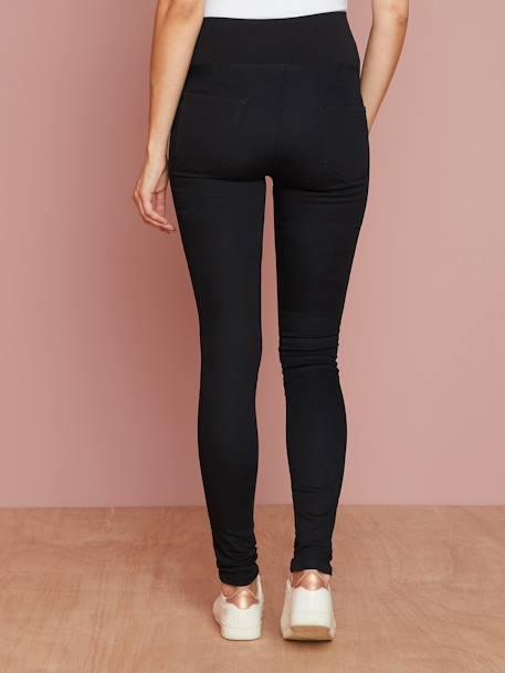 4f16231141eb29 Maternity Stretch Fabric Treggings - Inside Leg 32' Black+GREY DARK SOLID -  vertbaudet