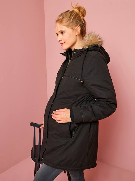 3-in-1 Progressive Parka, for During and After Pregnancy BLACK DARK SOLID+BLUE DARK SOLID+ORANGE LIGHT SOLID - vertbaudet enfant