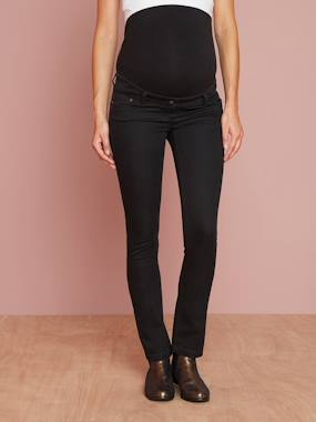 Vertbaudet Sale-Maternity-Maternity Slim Jeans in Stretch Fabric, Inside Leg 31""