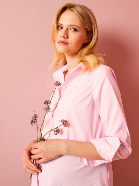 Maternity Urban Shirt PINK LIGHT SOLID - vertbaudet enfant