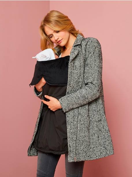 3-in-1 Adaptable Maternity Coat GREY DARK SOLID - vertbaudet enfant