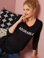 Maternity Top with Message in Beads  - vertbaudet enfant