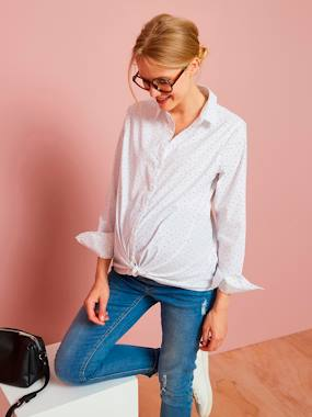 Maternity-Blouses, Shirts & Tunics-Printed Maternity Shirt