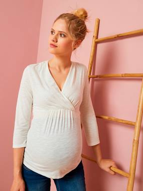 Maternity-T-shirts & Tops-Maternity Wrap-Over T-Shirt