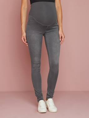 Vertbaudet Sale-Maternity-Trousers-Maternity Stretch Fabric Treggings - Inside Leg 32""