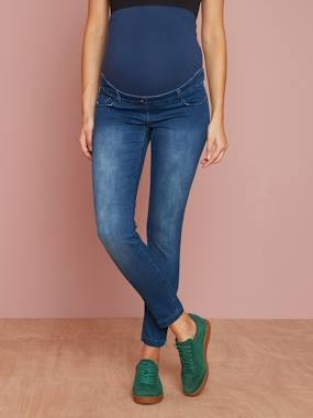 Vertbaudet Collection-Maternity-Maternity Skinny Jeans, 7/8 Length