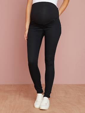 Maternity-Trousers-Maternity Stretch Fabric Treggings - Inside Leg 32""