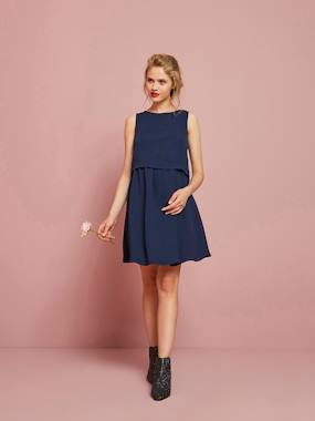 Maternity-Dresses-Elegant Dress, for Maternity & Nursing