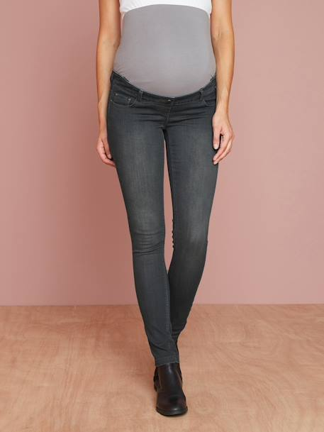 Maternity Slim Stretch Jeans - Inside Leg 30' BLACK DARK SOLID+BLUE DARK WASCHED+Denim brut+GREY MEDIUM WASCHED+Light grey denim - vertbaudet enfant