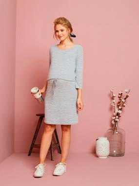Maternity-Dresses-Soft Fleece Nursing Dress
