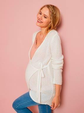 Future Maman-Pull, gilet-Gilet homewear tricot de grossesse
